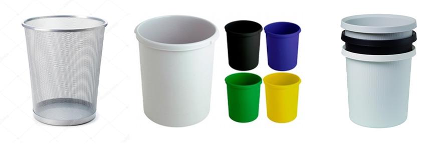 poubelles en plastique a papier